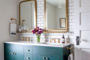 Фото 9 Синяя ванная комната: 75 элегантных интерьеров в холодных тонах