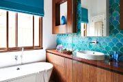 Фото 4 Синяя ванная комната: 75 элегантных интерьеров в холодных тонах