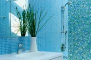 Фото 28 Синяя ванная комната: 75 элегантных интерьеров в холодных тонах