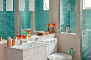 Фото 30 Синяя ванная комната: 75 элегантных интерьеров в холодных тонах