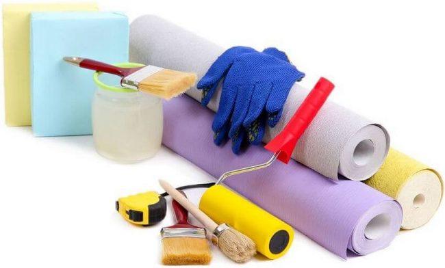 Необходимый инструмент для комфортной работы по отделке стен обоями