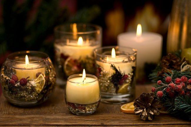 Новогодний дизайн гелевых свечей