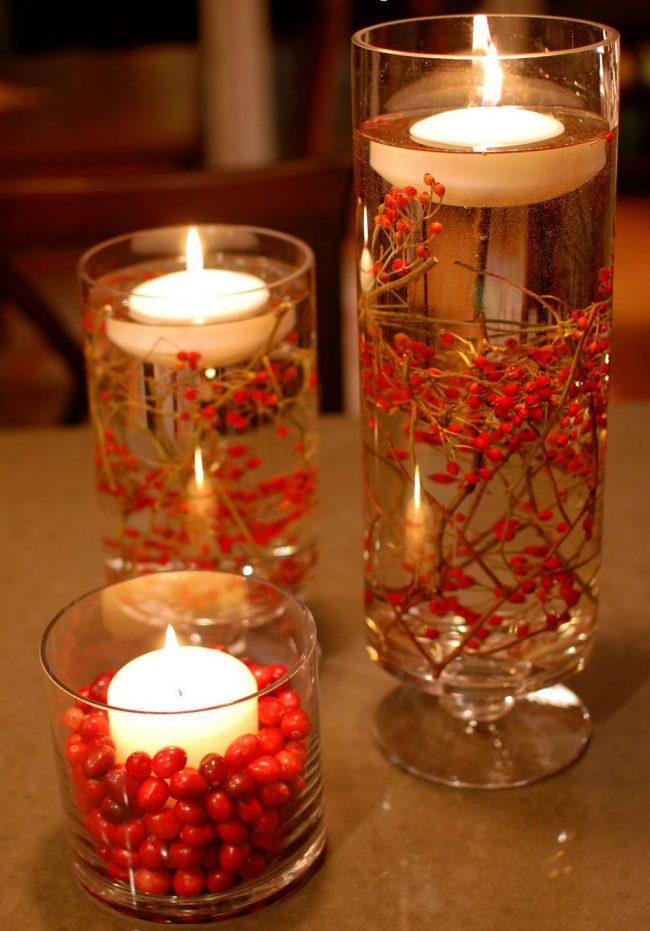 Красивый и легкий дизайн плавающей свечи
