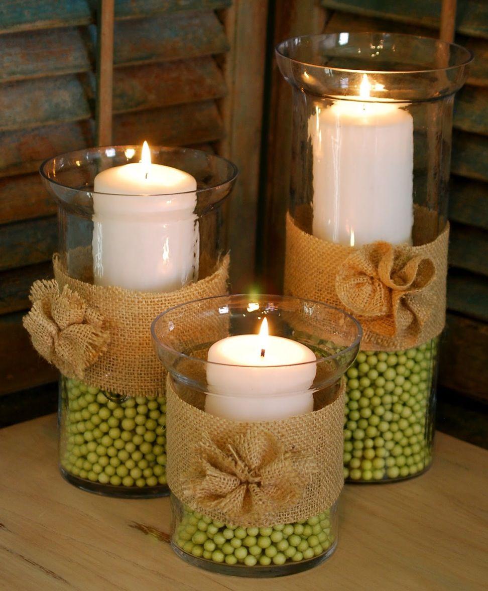 Свечи декорированные своими руками