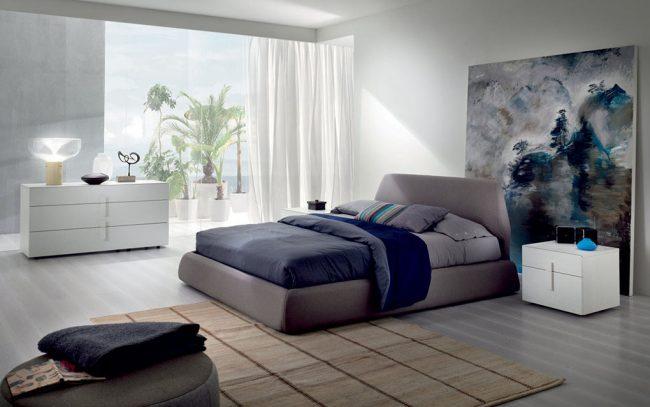 Современная спальня в стиле минимализм