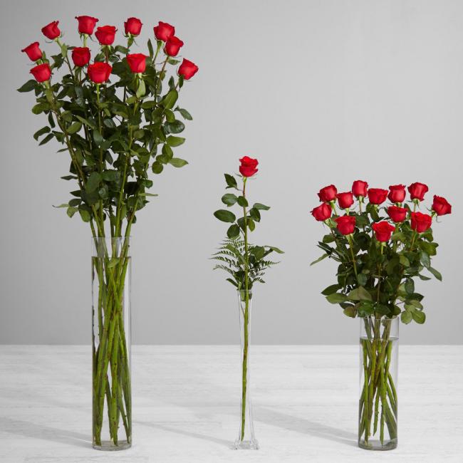 Аранжировщики цветов советуют выбирать вазу, которая составляет 40 - 60% от длинны букета