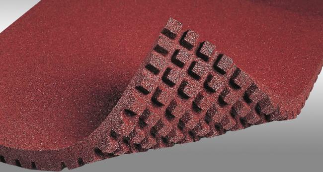 Лист плитки из резиновой крошки