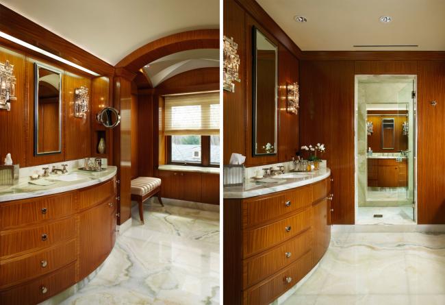 Лакированные деревянные доски имеют ярко выраженный блеск и подходят для создания эффекта дорогостоящего интерьера