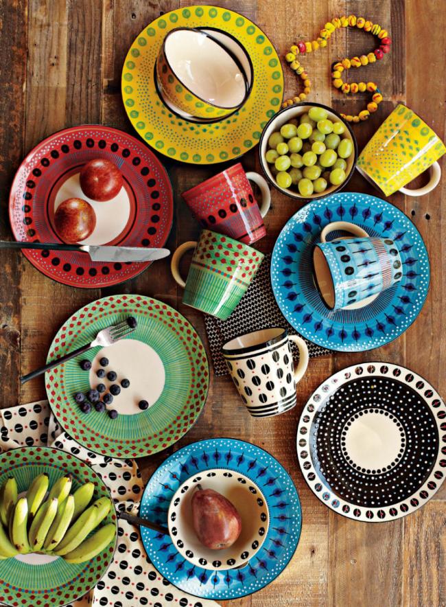 Гармоничное сочетание цветов и оттенков в дизайне керамической посуды