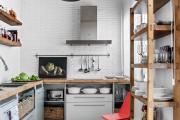 Фото 28 Кухня без верхних шкафов: 75+ функциональных интерьеров для тех, кто устал от кухонной классики