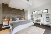 Фото 4 Ламинат на стене в спальне: 80 уютных вариантов отделки для минималистичных интерьеров