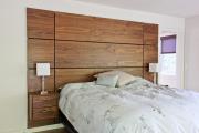Фото 10 Ламинат на стене в спальне: 80 уютных вариантов отделки для минималистичных интерьеров