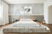 Фото 13 Ламинат на стене в спальне: 80 уютных вариантов отделки для минималистичных интерьеров