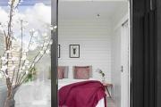 Фото 14 Ламинат на стене в спальне: 80 уютных вариантов отделки для минималистичных интерьеров