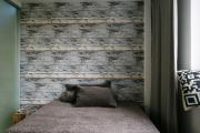 Фото 15 Ламинат на стене в спальне: 80 уютных вариантов отделки для минималистичных интерьеров
