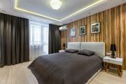 Фото 16 Ламинат на стене в спальне: 80 уютных вариантов отделки для минималистичных интерьеров