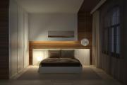 Фото 20 Ламинат на стене в спальне: 80 уютных вариантов отделки для минималистичных интерьеров