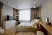 Фото 40 Ламинат на стене в спальне: 80 уютных вариантов отделки для минималистичных интерьеров
