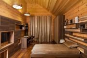 Фото 39 Ламинат на стене в спальне: 80 уютных вариантов отделки для минималистичных интерьеров