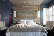 Фото 24 Ламинат на стене в спальне: 80 уютных вариантов отделки для минималистичных интерьеров