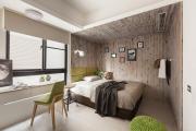 Фото 29 Ламинат на стене в спальне: 80 уютных вариантов отделки для минималистичных интерьеров