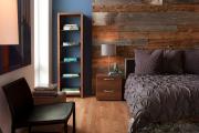 Фото 31 Ламинат на стене в спальне: 80 уютных вариантов отделки для минималистичных интерьеров