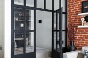 Фото 9 Межкомнатные перегородки из стекла: 80 дизайнерских вариантов зонирования квартиры
