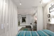 Фото 14 Межкомнатные перегородки из стекла: 80 дизайнерских вариантов зонирования квартиры