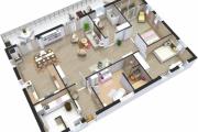 Фото 30 Проект одноэтажного дома с тремя спальнями: преимущества и возможные варианты постройки