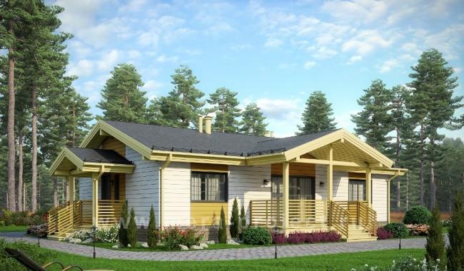 Проект одноэтажного дома с тремя спальнями по готовому проекту
