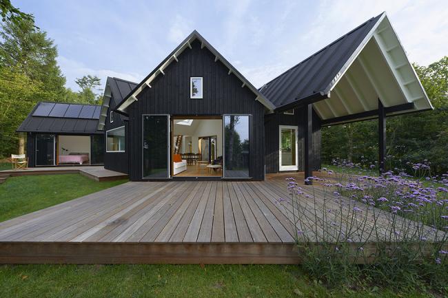 Современный одноэтажный дом с тремя спальнями по индивидуальному проекту