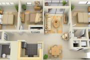 Фото 42 Проект одноэтажного дома с тремя спальнями: преимущества и возможные варианты постройки