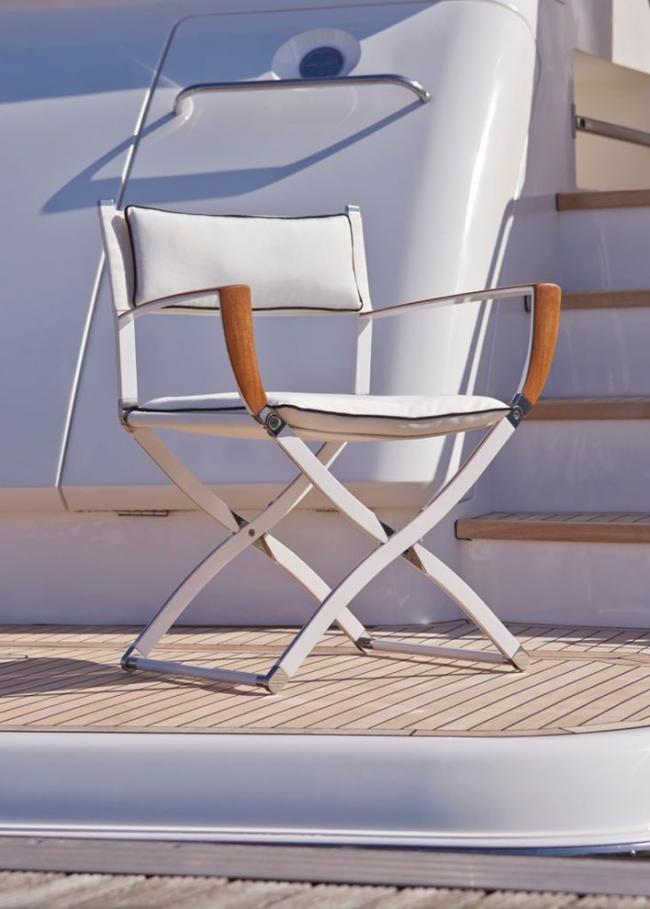Удобный складной стул со стильным дизайном
