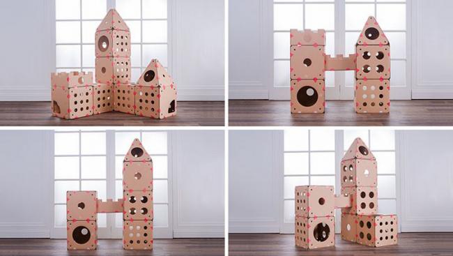 Размер модульного дома полностью зависит от вашей фантазии. Части скрепляются при помощи специальных липучек