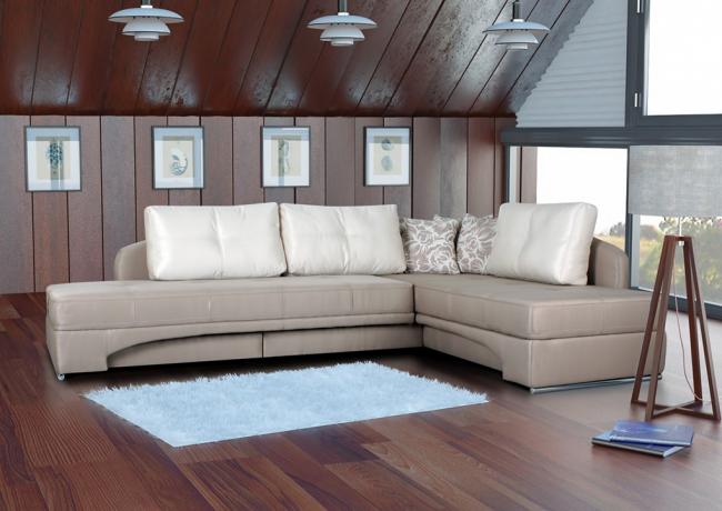 Поворотный диван занимает немного места в комнате, особенно, если его расположить в углу