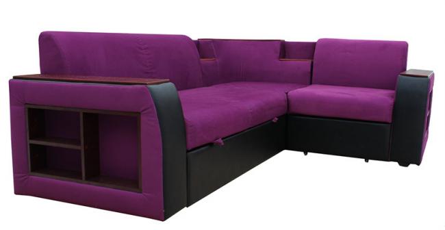 Удобный органайзер по бокам углового дивана с ортопедическим основанием