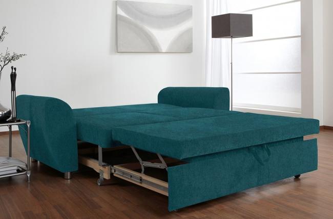 Красивая цветная обивка дивана с ортопедическим основанием