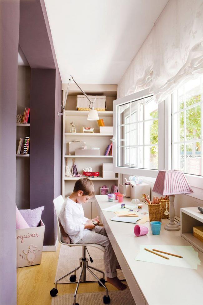 Объединение балкона с детской комнатой поможет добавить дополнительные квадратные метры к общей площади
