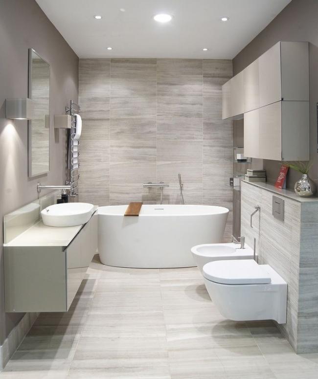 Объединение туалета с ванной комнатой поможет увеличить общую площадь