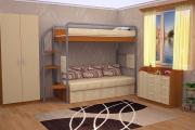 Фото 16 Двухъярусная кровать с диваном: 80+ избранных решений для оптимизации пространства
