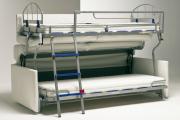 Фото 22 Двухъярусная кровать с диваном: 80+ избранных решений для оптимизации пространства