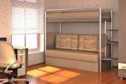 Фото 26 Двухъярусная кровать с диваном: 80+ избранных решений для оптимизации пространства
