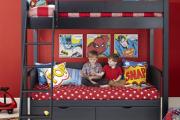 Фото 27 Двухъярусная кровать с диваном: 80+ избранных решений для оптимизации пространства