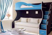 Фото 30 Двухъярусная кровать с диваном: 80+ избранных решений для оптимизации пространства