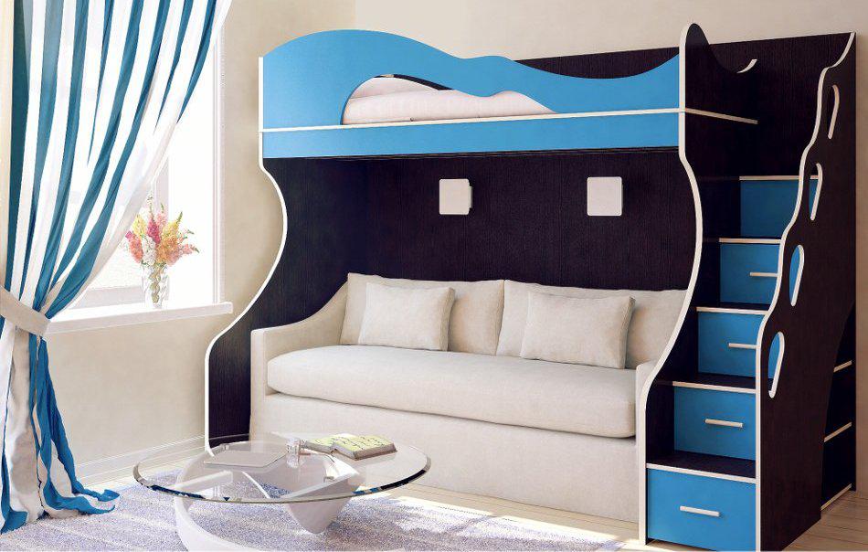 кровать с диваном внизу купить