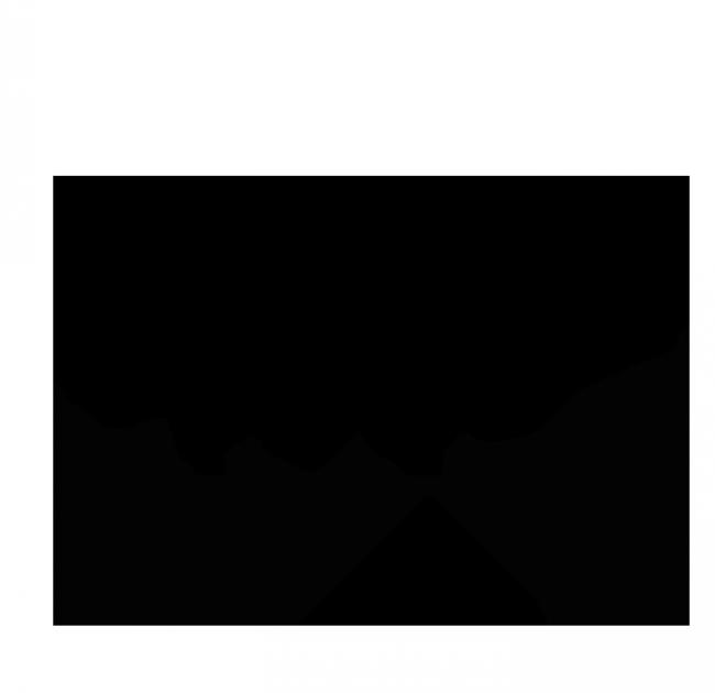Шаблон флюгарки в форме лошади