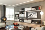Фото 22 Глянцевая мебель для гостиной: придаем интерьеру акцентность и особый лоск