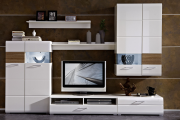 Фото 30 Глянцевая мебель для гостиной: придаем интерьеру акцентность и особый лоск