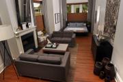 Фото 51 Гостиная и спальня в одной комнате: 120+ примеров комфортного зонирования
