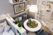 Фото 38 Гостиная и спальня в одной комнате: 120+ примеров комфортного зонирования